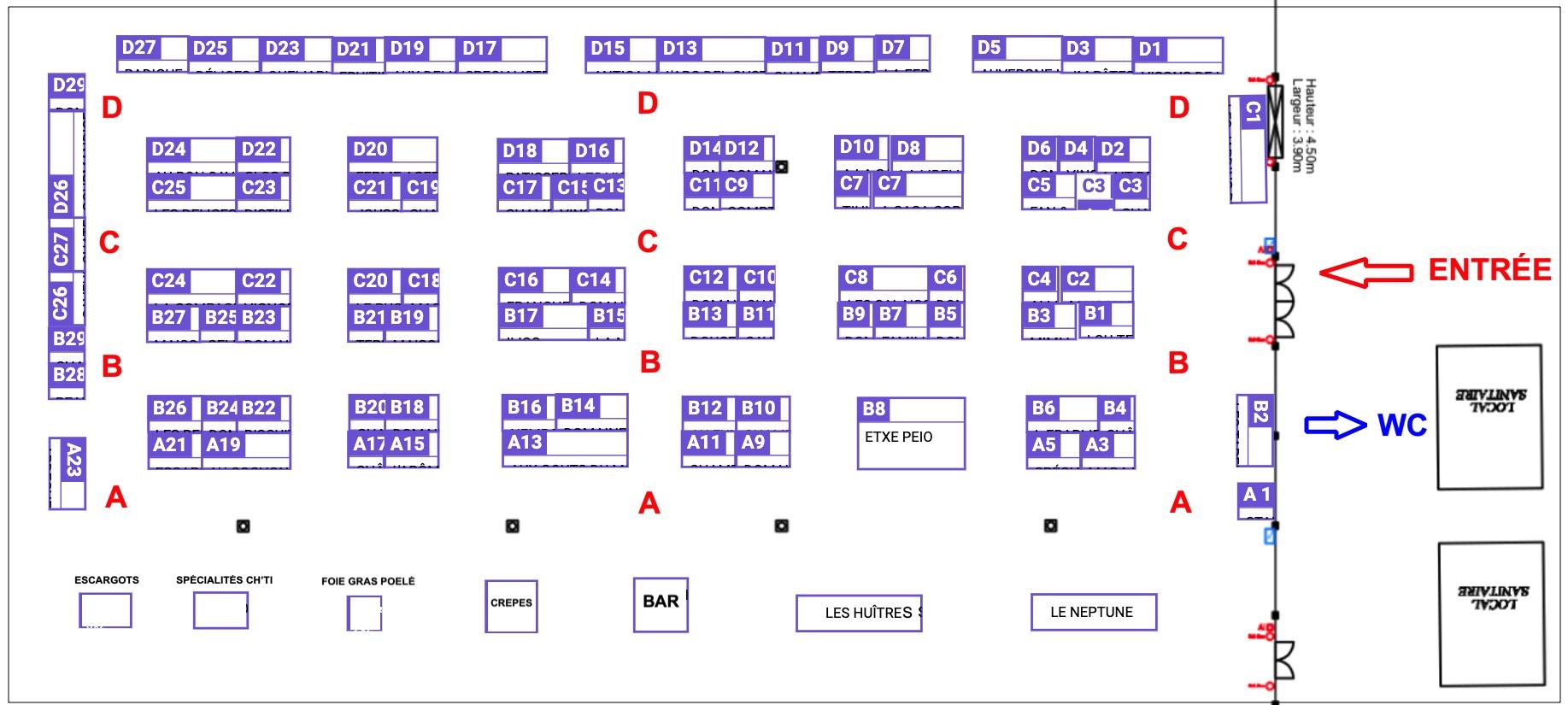Plan des exposants du salon Salon de Strasbourg Automne