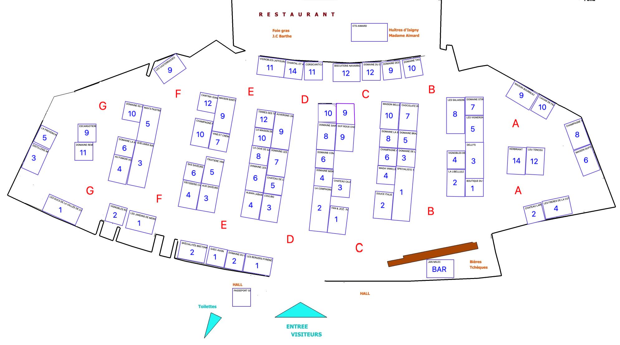 Plan des exposants du salon Salon d'Annecy Le Vieux